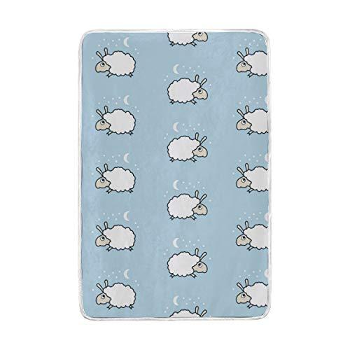 Jonassk Woolffk Sheep Queen Headband Soft Blanket All Season Comfort Super Soft Warm Plush Blanket Fuzzy Light Warm Wool Blanket Sofa Bed, 60x90 Inches