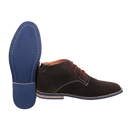 Men's Design Flats Lace Ital Brown Up 5P6x5Wn