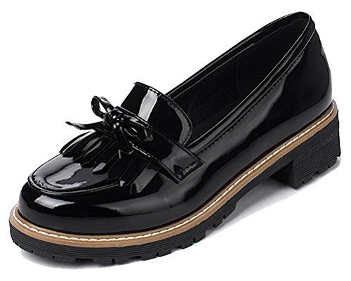 Women's Cute Tassels Waterproof Loafers School Teens Girls Oxfords Dress  Flats Shoes Size 2-8.5- Buy Online in Cook Islands at cook.desertcart.com.  ProductId : 62183107.