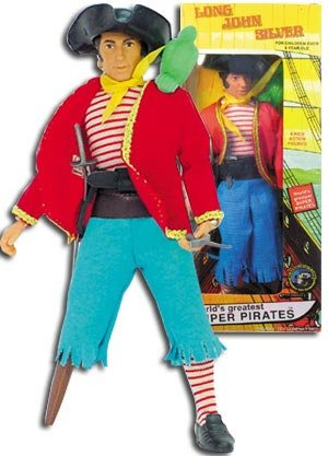 Silver Long Jacket John Pirate (Super Pirates Long John Silver Action)