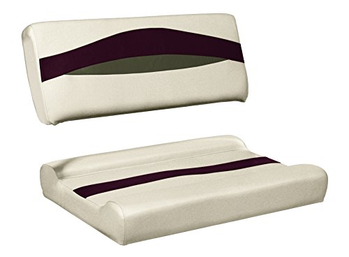 (Wise Premier Series Pontoon Flip-Flop Seat, Cushions Only, Platinum/Platinum Punch/Wineberry/Manitee)