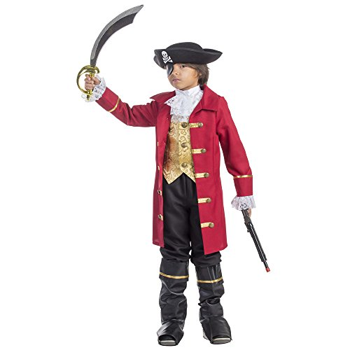 Captain Hook Halloween Costumes Child (Elite Boy's Pirate Costume - Size Small)