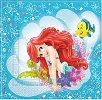 Sirenita Ariel coordinato addobbi Día – Kit N ° 5 cdc- (40 platos, 40 servilletas vasos, 40)
