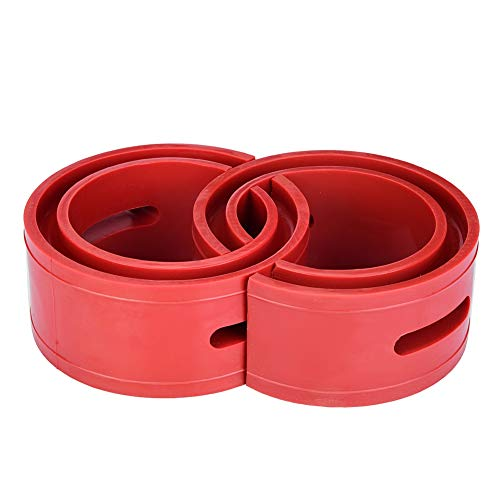 2pc Car Rubber Shock Absorber Buffer Spring Bumper Cushion Red TPE Type A-F(A) from Akozon