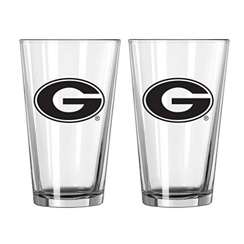 NCAA Georgia Bulldogs Game Day Pint, 16-ounce, 2-Pack