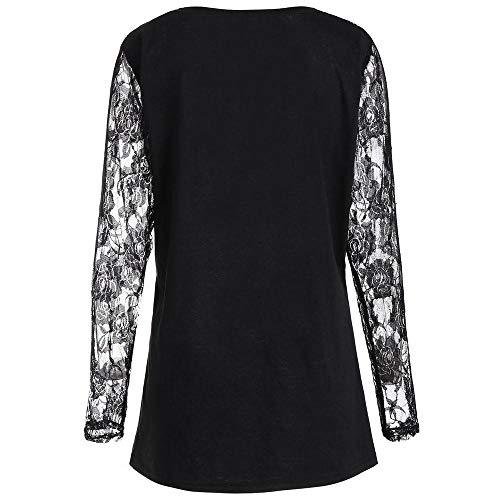 DEATU Halloween Womens Clearance! Ladies Teen Women Long Sleeve Halloween Pumpkin Face Sweatshirt T-shirt Tops Blouse(B-Black,XL)