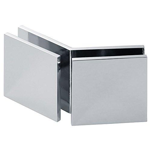 MODEXO C1108-1000CHR Square 135° Glass-to-Glass Movable Transom Clamp, Chrome