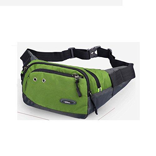 Bolso del teléfono móvil de los hombres Tela de múltiples funciones Deportes solo bandolera messenger Pack mini pecho-D D