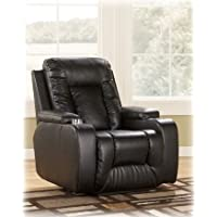 Ashley Furniture Signature Design - Matinee Recliner - Power Reclining Chair - Eclipse Black