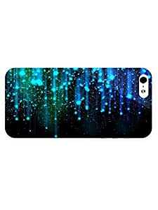 Free Shipping iPhone 5/5s Case Abstract Falling Stars with Full Wrap
