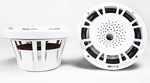 - MB Quart NH1-120W Two Way 8 inch Compression Horn Speaker with Poly Cone, Packaged in Pairs. (White)