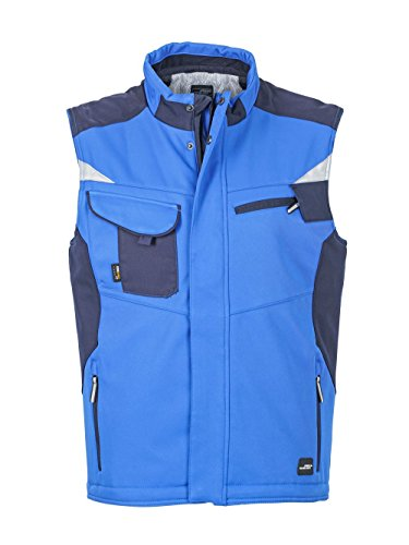 In Softshell Giacca Con Interno Rivestimento Vest Royal Caldo Craftsmen navy Professionale 1annwqxCT