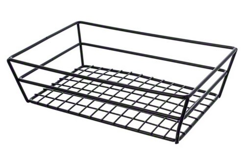 American Metalcraft Basket (American Metalcraft RMB95B Rectangular Wire Grid Basket, Black)