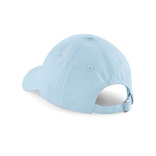 Eyelets Pastel - Beechfield Unisex Authentic 6 Panel Baseball Cap (One Size) (Pastel Blue)
