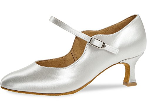 cm 092 Femmes Chaussures Flare 5 106 Blanc de Danse 050 Diamant Satin pYqwT