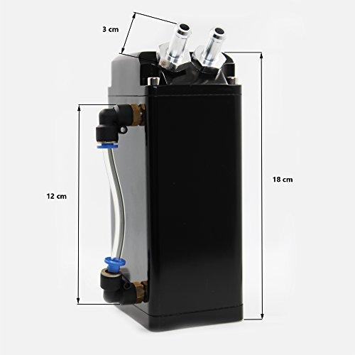 MODAUTO Depósito Aceite de Coche, Decantador de Aceite, Captura de Aceite de Motor, Aluminio Pulido, Cuadrado, Modelo E081BK, Color Negro: Amazon.es: Coche ...