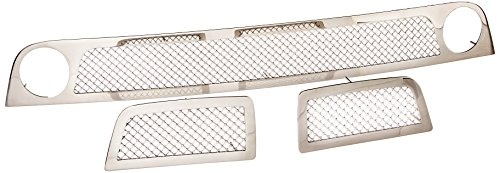 T-Rex 55284 Upper Class Mesh Polished Stainless Bumper Grille - 3 Piece 3 Piece Bumper Grille