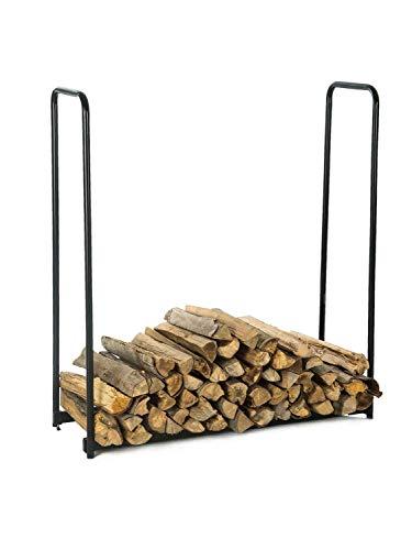 (LITHER 4 Feet Heavy Duty Indoor/Outdoor Firewood Racks Anti-Corrosive Steel Wood Storage Log Rack)