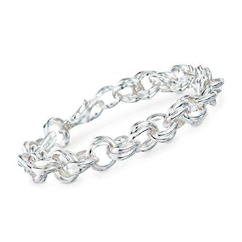 Ross-Simons Italian Sterling Silver Rolo Link Chain Bracelet ()