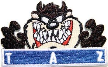 TAZ Devil Iron On Sew On Cartoon Biker Tasmanain Embroidered Badge Patch