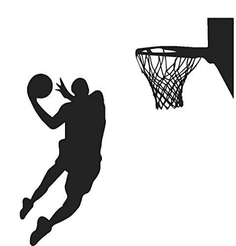 UMFun Slam Dunk Basketball Player Removable Wall Art Stickers Vinyl Decals Decor DIY Black -
