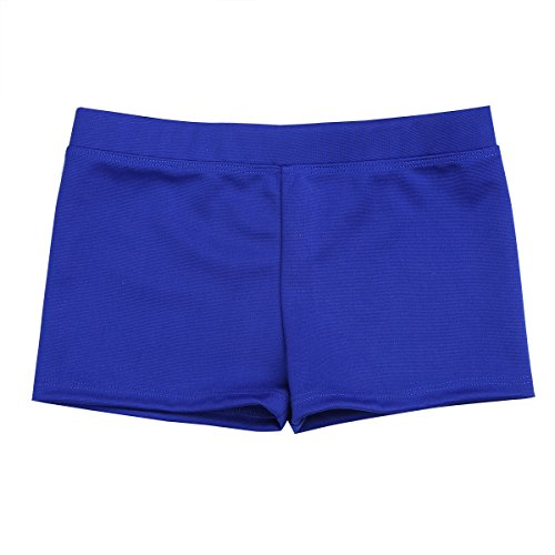Alvivi Girls' Boys Cut Low Rise Gymnastics Dance Shorts Ballet Sports Cycling Running Shorts Blue ()