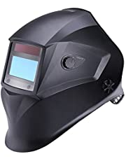 Welding Helmet, Tacklife PAH04D with 4 Independent Shade Filter Sensors, Full Shade Range 4/4-8/9-13, Optical Class (1/1/1/1), Solar-cell Powered