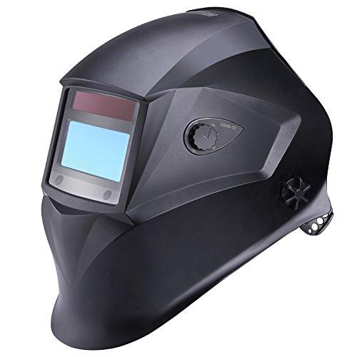 Casco de soldadura Tacklife PAH01D, casco de soldadura oscurecedor automático con 4 sensores de filtro de sombra independientes, gama de colores 9 - 13, ...