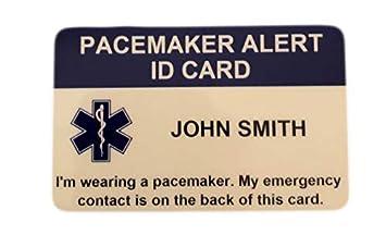 Amazon.com: marcapasos Alerta tarjeta de identificación ...