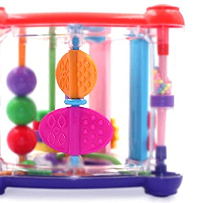 Beher Rattle Toy Baby Newborn Activity Play Cube Toys Infant Development Educational Hanging Toys: Toys & Games