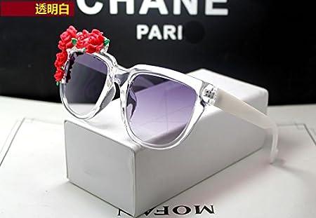 Sunyan Lunettes de soleil roses lady fashion marée grand miroir frame purple dur,lunettes rouge Tempérament