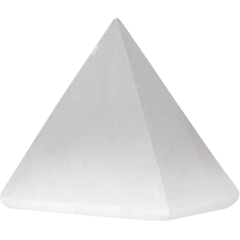 Astroghar White Selenite Crystal 70 Grams Pyramid