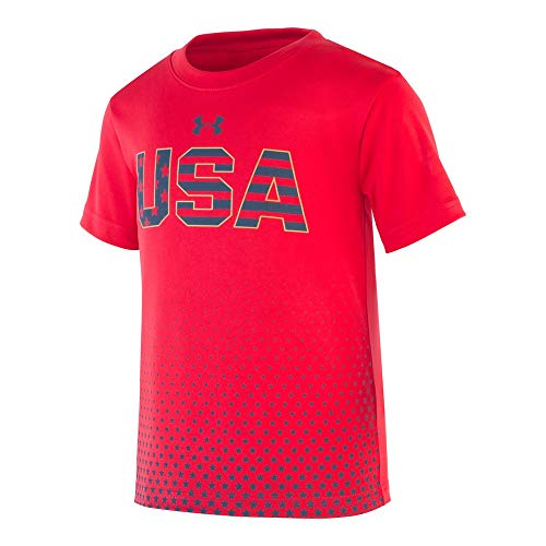 (Under Armour Boys' Toddler Graphic SS Tee Shirt, Red-S192, 2T)