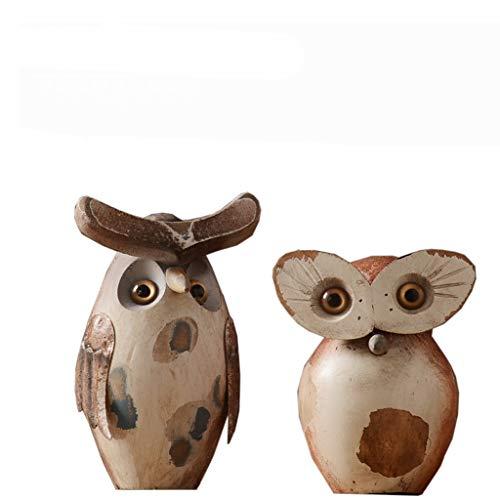 Nosterappou American retro fat owl ornaments, living room porch decorations, retro nostalgic classics, simple and natural, study room soft decorations, art decorations, study living room tabletop deco]()