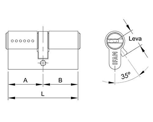 Cilindro de doble embrague Ifam 35+35 (35x35) para cerradura ...: Amazon.es: Hogar