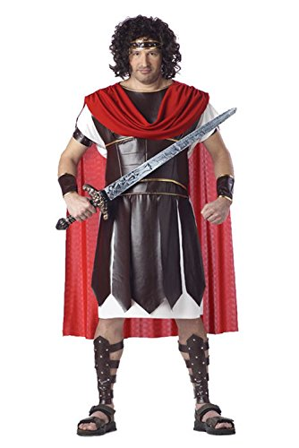 [Mememall Fashion Plus Size Hercules Roman Spartan Warrior Mens Adult Halloween Costume] (Bavarian Guy Adult Plus Costumes)