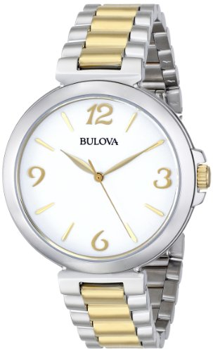 Bulova Women's 98L194 Analog Display Japanese Quartz Two Tone Watch