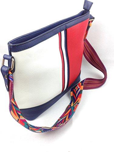 multicolor de Material mujer Sintético para Bolso multicolor myfashiondeluxe al hombro ICztwq
