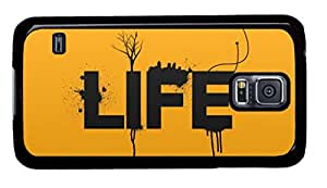 Appealing Design Nice Painting Life Covered on Black PC Samsung Galaxy S5 I9600 Shell Case-01