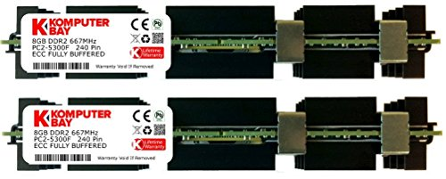 Komputerbay 16GB (2x 8GB) DDR2 PC2-5300F 667MHz CL5 ECC Fully Buffered FB-DIMM (240 PIN) w/ Apple Heatspreaders FOR MAC PRO - Pro Ddr2 667 Fully Buffered