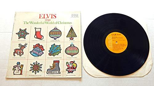 Elvis Presley ELVIS SINGS THE WONDERFUL WORLD OF CHRISTMAS - RCA Records 1971 - USED Vinyl LP Record - 1975 Reissue Pressing - The First Noel - Merry Christmas Baby - Silver Bells (Elvis Presley The Wonderful World Of Christmas)