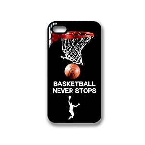 iPhone 4 4S Case ThinShell TPU Case Protective iPhone 4 4S Case Shawnex Basketball Never Stops