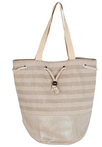 Clayre & Eef bag285Borsa Shopper Borsa da spiaggia borsa per la spesa naturalmente circa Ø 30x 40cm