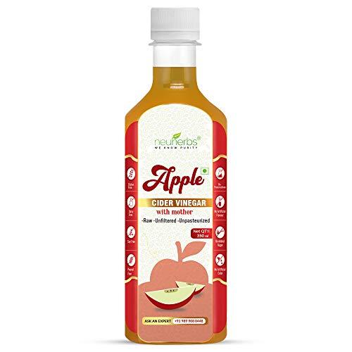 Neuherbs Apple Cider Vinegar with Mother Vinegar, Raw, Unfiltered and Undiluted – 350 ml