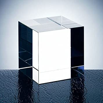 Optical Crystal Straight Cube Paperweight