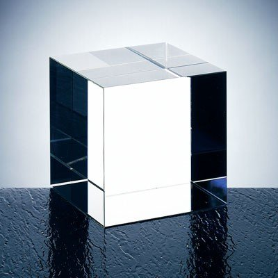 Optical Crystal Straight Cube (Optical Crystal Paperweight)