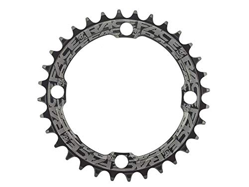 - RaceFace Narrow Wide Chainring: 104mm BCD, 32t, Black w/Factory Decal - Compatible with 9,10,11 and 12 Speed