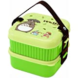 Totoro Bento Studio Ghibli Totoro Design 2-Tier Bento Lunch Box, 620 mL Plus 630 mL