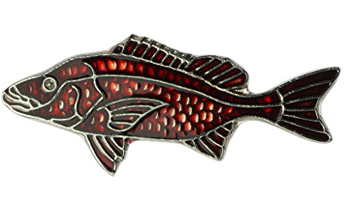 (Sujak Military Items Redfish Fish Hat or Lapel Pin AK267)