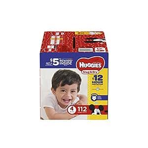 HUGGIES Snug & Dry Diapers, Size 4, 112 Count, GIGA JR PACK (Packaging May Vary)